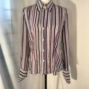 New York & Company Long Sleeved Button Down Sz M